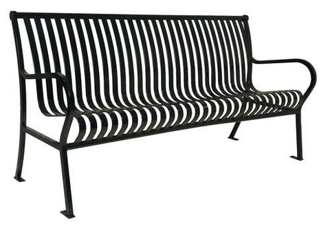 Hamilton Collection Bench with Back, 4' Long