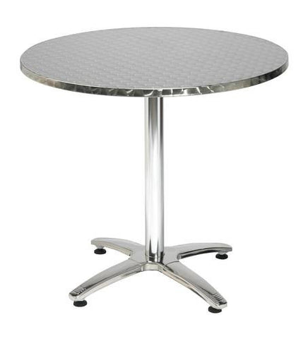 "Weather-Resistant Stainless Steel Table, 32"" Round"