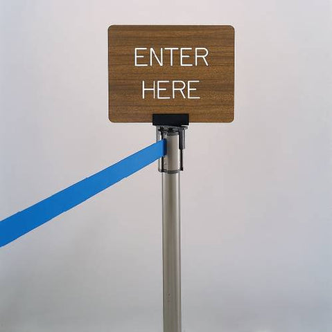 Extenda-Barrier Crowd Control System, Sign Holder