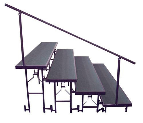 4-Level Side Rail for Portable Standing Risers
