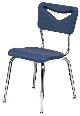 "Blow-Molded Stacking Chair, 11-1/2"" Seat Height"