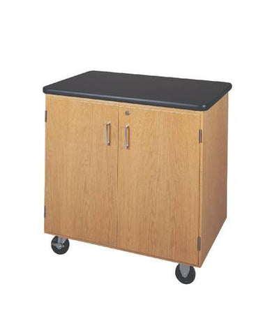Compact Mobile Storage Cabinet, Laminate Top