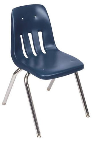 "Classic Series Poly Shell Classroom Stack Chair, 18"" Seat Height"