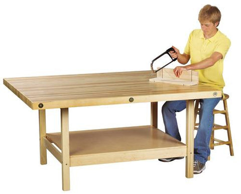 4-Station Hardwood Workbench
