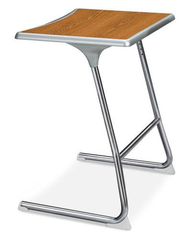 Accomplish® Cantilever Student Desk, Chrome Frame