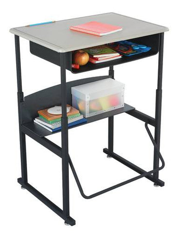 "AlphaBetter™ Stand-Up Desk with Book Box, Thermoplastic Laminate Top, 20"" x 28"""
