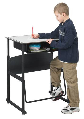 AlphaBetter StandUp Desk with Book Box Phenolic Top 20 x 28
