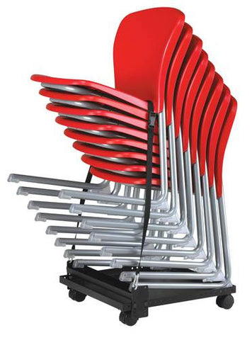 Holds up to 8 Accomplish cantilever chairs