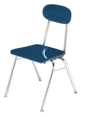 "CDF™ Solid Hard Plastic Stacking Chair, 5/8"" Thick Seat & Back, 17-1/2"" Seat Height"