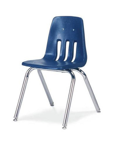 "Classic Series Poly Shell Classroom Stack Chair, 16"" Seat Height"