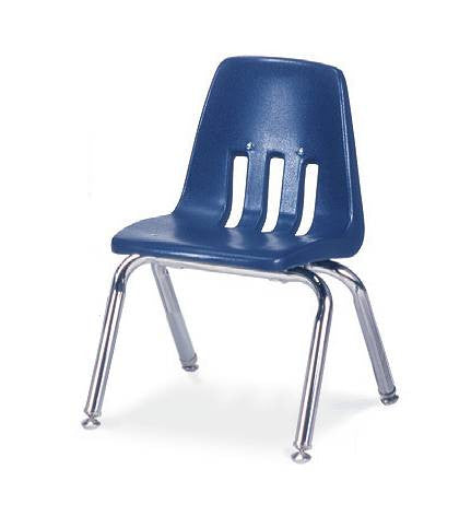 "Classic Series Poly Shell Classroom Stack Chair, 12"" Seat Height"