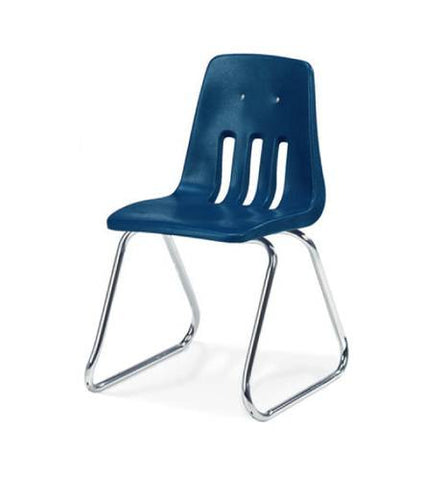 "Classic Series Poly Shell Sled Base Classroom Stack Chair, 16"" Seat Height"