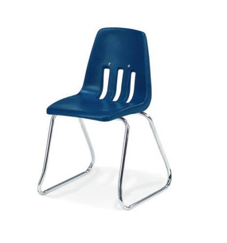 "Classic Series Poly Shell Sled Base Classroom Stack Chair, 14"" Seat Height"