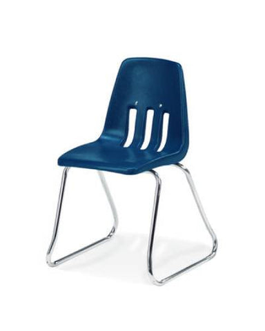 "Classic Series Poly Shell Sled Base Classroom Stack Chair, 12"" Seat Height"