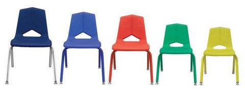 "V-Back Stacking Chair, Matching Shell and Frame, 14"" Seat Height"