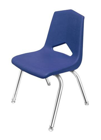 "V-Back Stacking Chair, Chrome Frame, 14"" Seat Height"