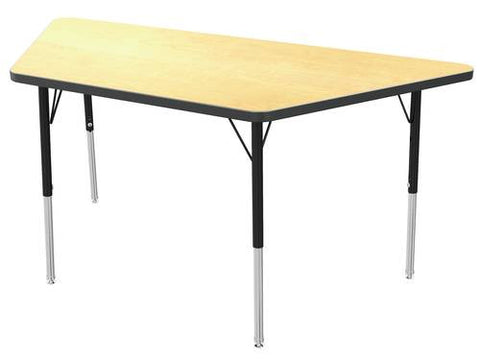"Adjustable Height Activity Table, Low-Pressure Laminate Top, Trapezoid, 30"" x 60"""