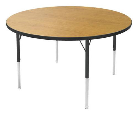 "Adjustable Height Activity Table, Low-Pressure Laminate Top, Round, 48"" Dia."
