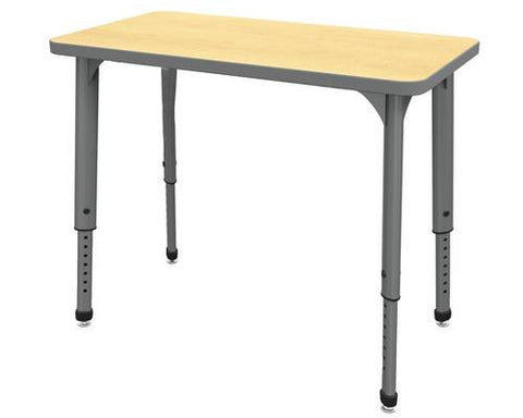 "Apex™ Series Height Adjustable Student Desk, Rectangle, 20"" x 36"""