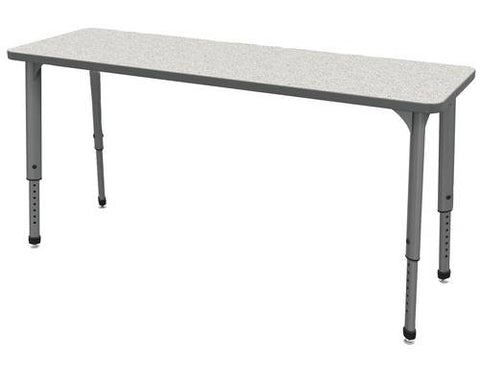 "Apex™ Series Height Adjustable Student Desk, Rectangle, 20"" x 60"""