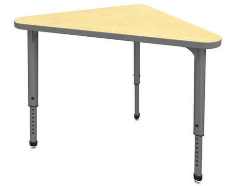 "Apex™ Series Height Adjustable Student Desk, Triangle, 30"" x 30"" x 41"""