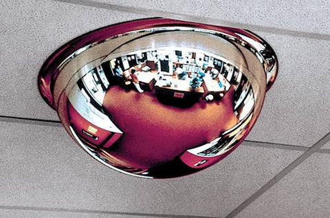 "Acrylic Safety/Security Mirror, Full Dome 4-Way, 360° View, 32"" Diameter"