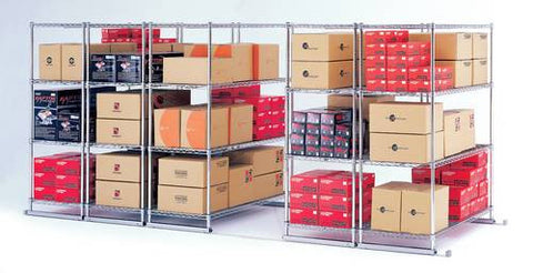 "X5 Storage Solution System, Shelf Size: 24"" X 36"" Overall: 177"" X 38"" X 74"""