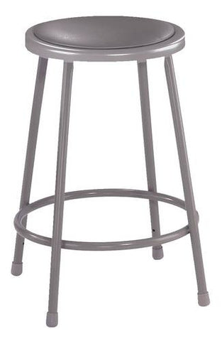 "Stool, Round Padded Seat, 24"" Fixed Height"