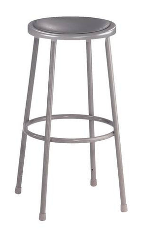 "Stool, Round Padded Seat, 30"" Fixed Height"