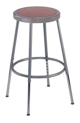 "Stool, Round Masonite Seat, 19""-27"" Adjustable Height"