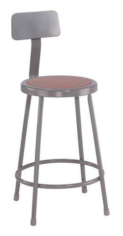 Durable All-Purpose Stool with Backrest, 24""