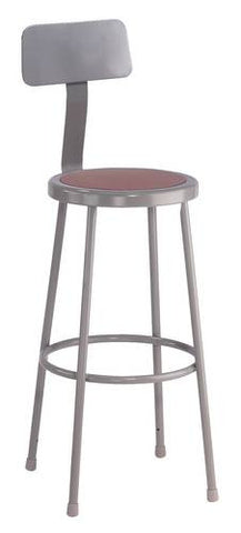 Durable All-Purpose Stool with Backrest, 30""