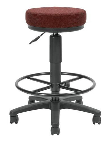 Adjustable Drafting Stool, Fabric Upholstery