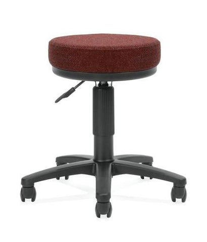 "Adjustable Task Stool, 18"" - 22"" H, Fabric Upholstery"