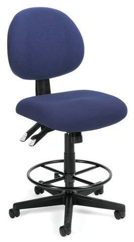 Adjustable 24-Hour High Base Stool, Fabric Upholstery