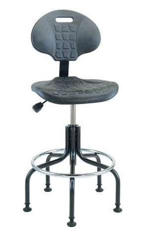 Ergonomic Art and Drafting Stool with Tubular Steel Base and Glides
