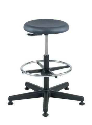 Polyurethane Backless Stool with 5-Star Base and Glides