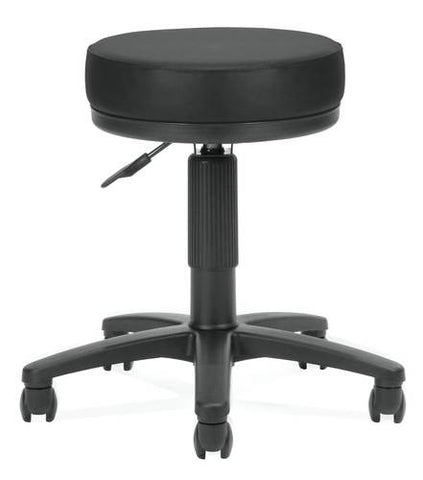"Adjustable Task Stool, 18"" - 22"" H, Vinyl Upholstery"