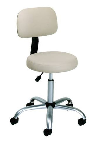 Height-Adjustable Ergonomic Medical Stool with Back