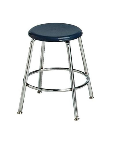 "Solid Plastic Stool, 18"" H"