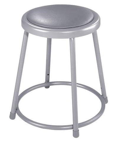 "Stool, Round Padded Seat, 18"" Fixed Height"
