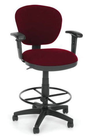 Lite Use Computer Task Stool with Arms