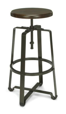 Endure Industrial Grade Tall Stool, Metal Seat