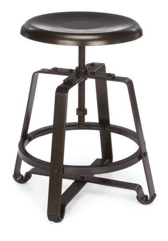 Endure Industrial Grade Small Stool, Metal Seat