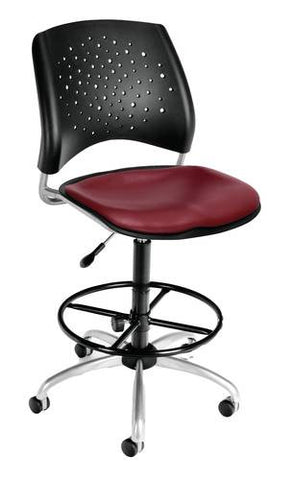 """Stars"" Swivel Stool with Vinyl Seat"