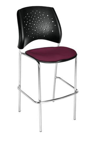 """Stars"" Cafe Height Stool, Fabric Seat"