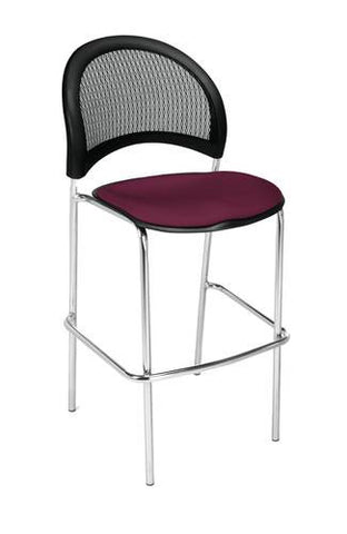 """Moon"" Cafe Height Stool, Fabric Seat"
