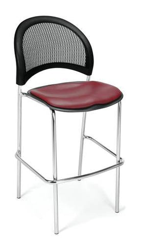 """Moon"" Cafe Height Stool, Vinyl Seat"