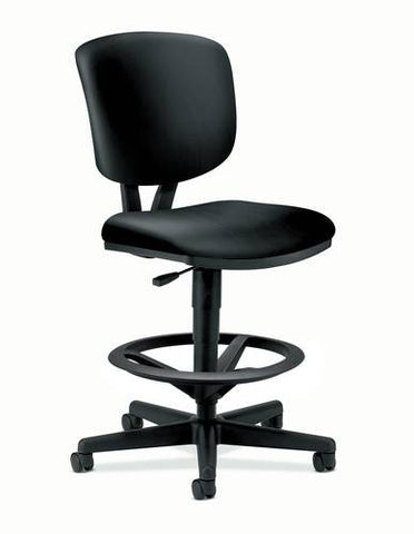 Volt® Task Stool without Arms, Black Leather