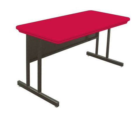 "Colorful Blow-Molded Desk Height Computer Table, 48"" W x 24"" D x 29"" H"